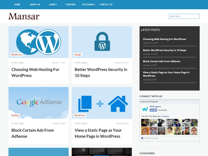 Mansar newspaper WordPress theme