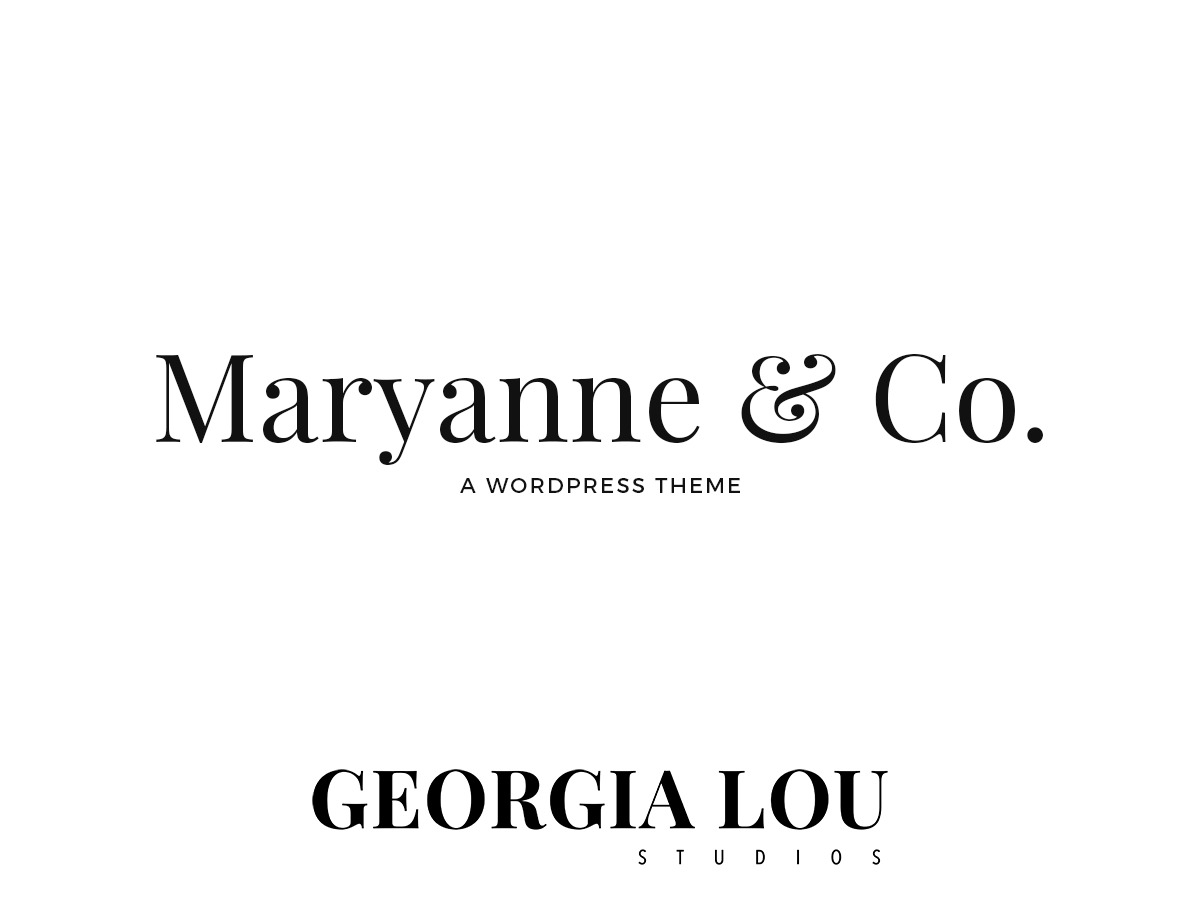 Maryanne - GLS WordPress blog template