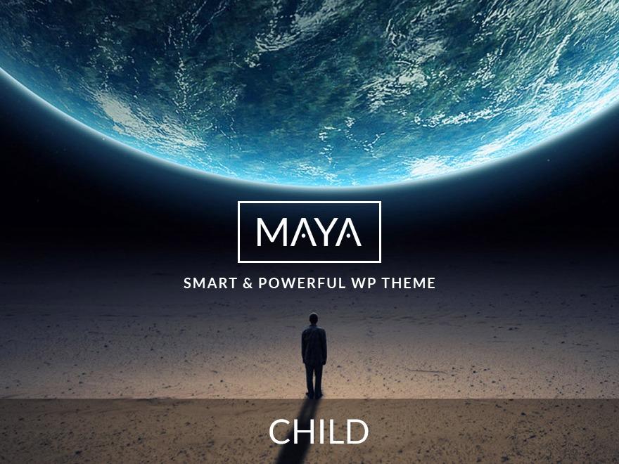 Maya Child WordPress page template