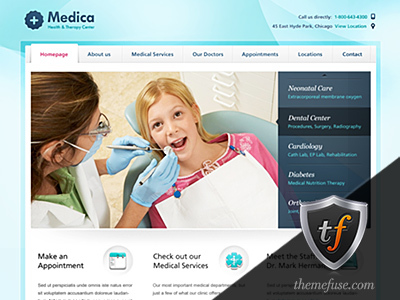 Medica medical WordPress theme
