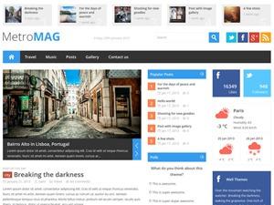 Metro Magazine WordPress news theme