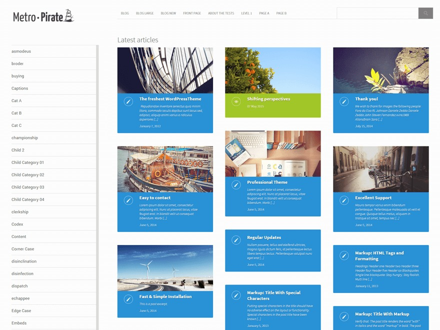 metro-pirate best free WordPress theme
