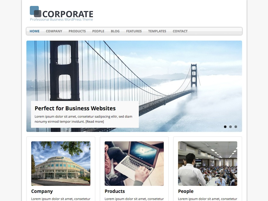MH Corporate basic WordPress news template