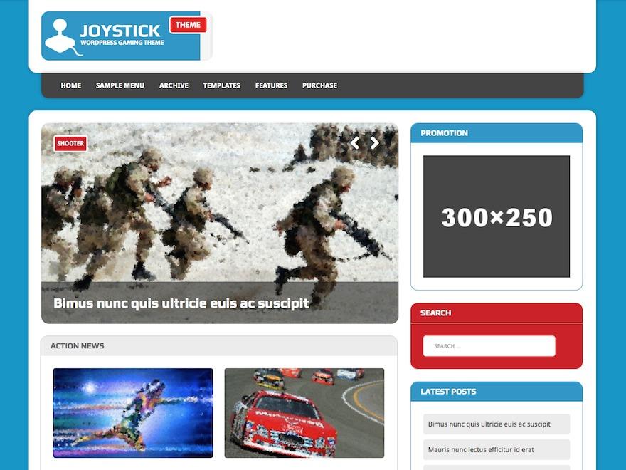 MH Joystick lite WordPress blog template