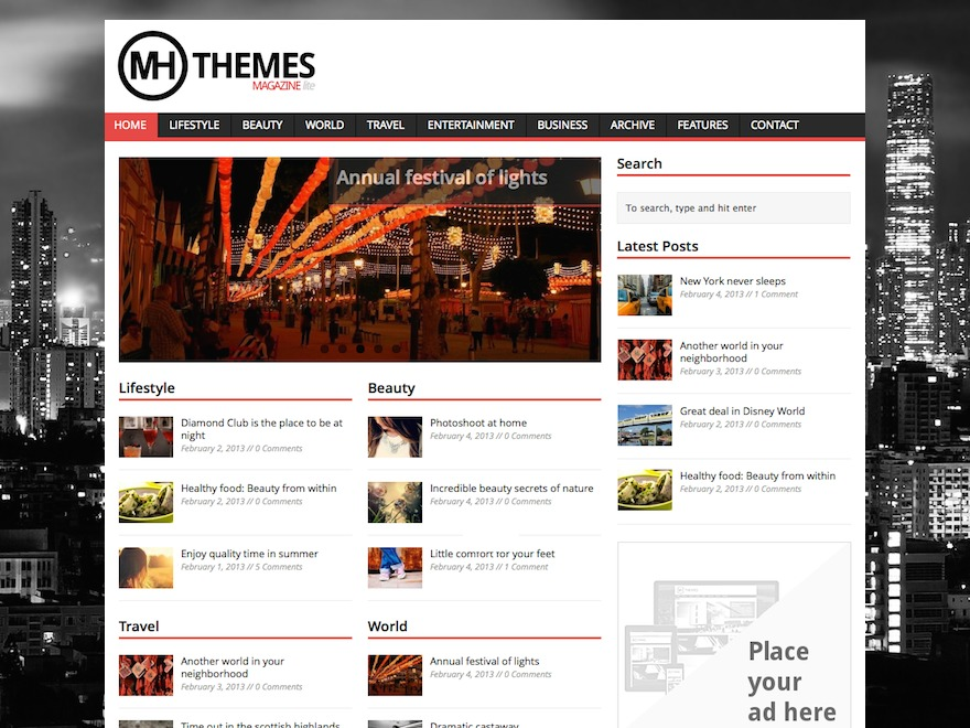 MH Magazine Lite Child WordPress news template