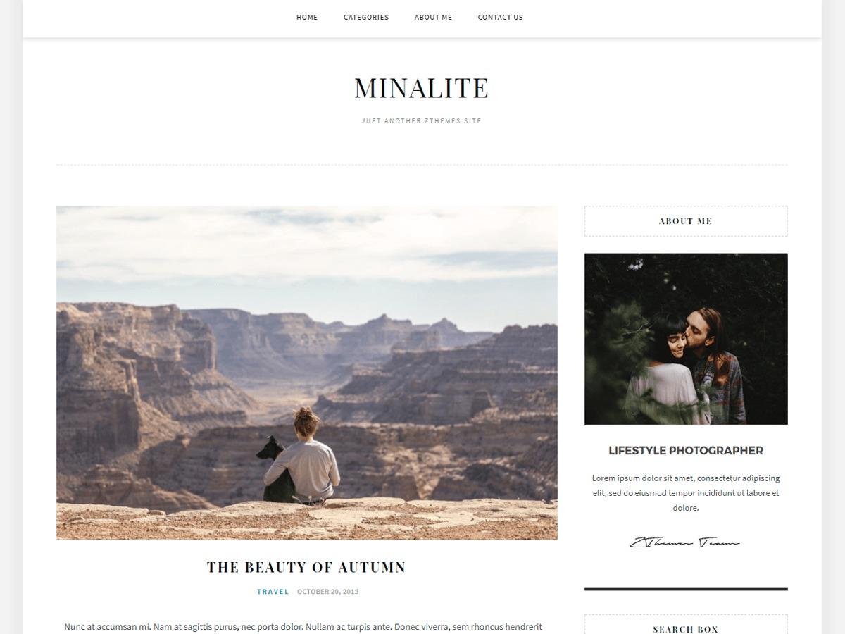 MinaLite template WordPress free