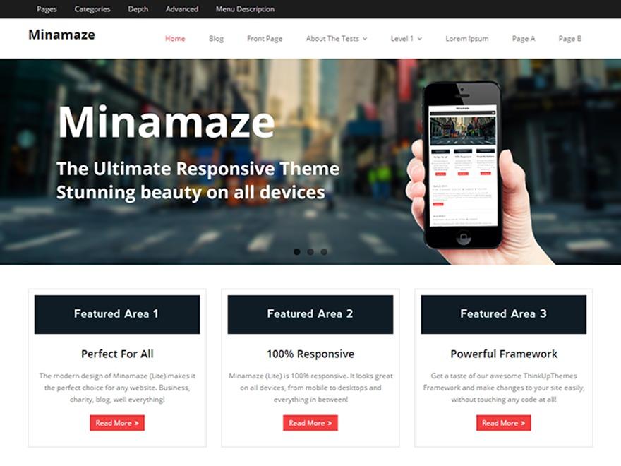 Minamaze Child company WordPress theme