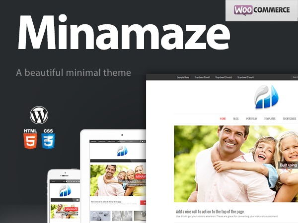 Minamaze (Pro) WordPress blog template