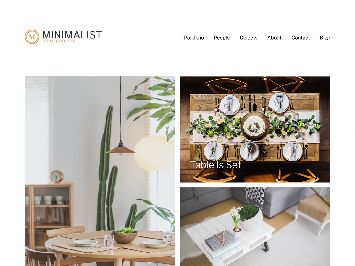 Minimalist Portfolio WordPress template for photographers