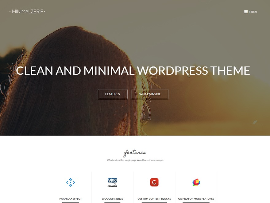 MinimalZerif premium WordPress theme
