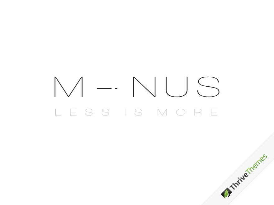 Minus WordPress blog theme