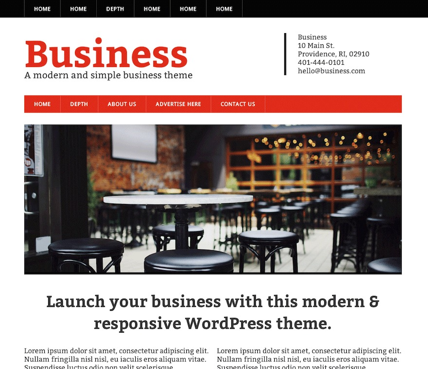 Modern Business company WordPress theme