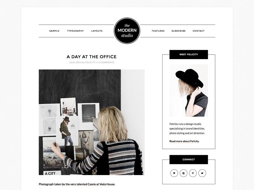 Modern Studio Pro Theme WordPress gallery theme