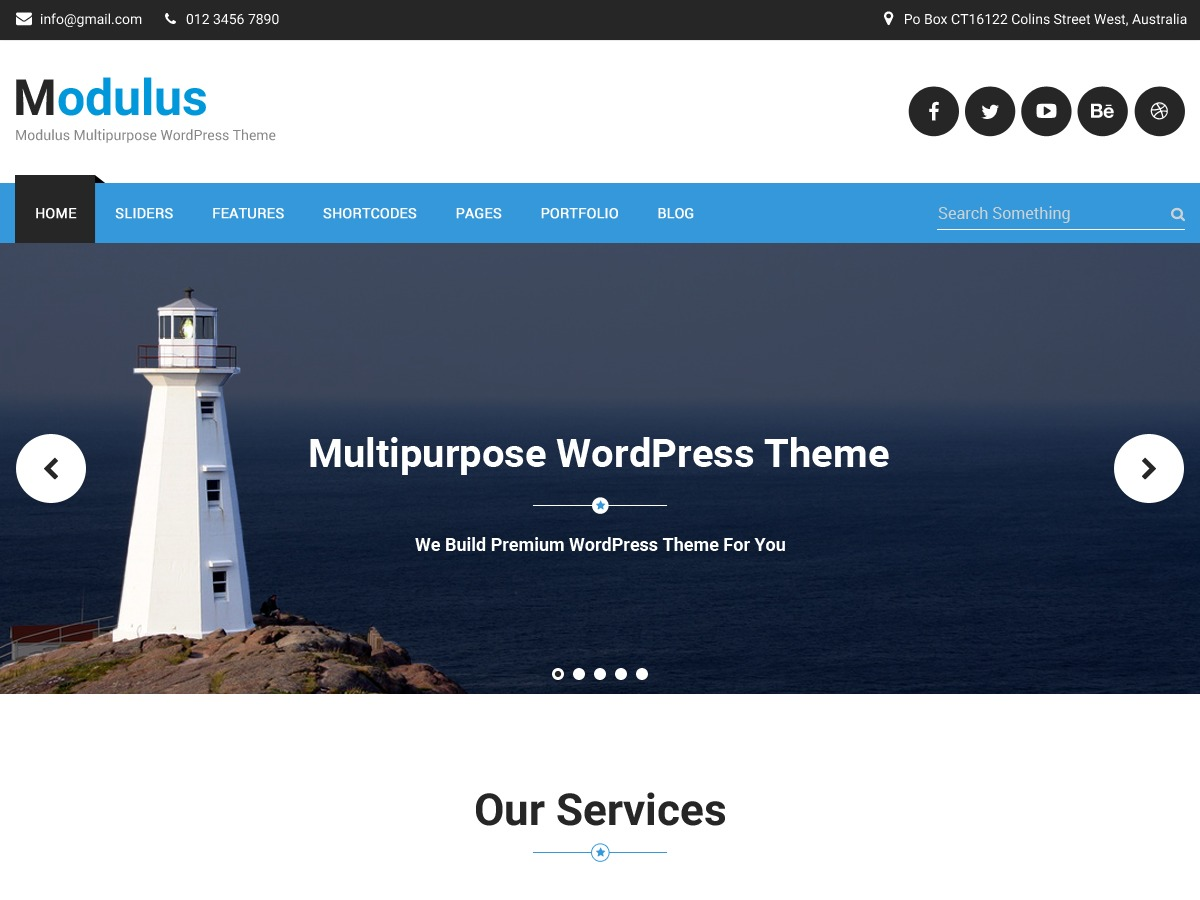 Modulus WordPress blog theme