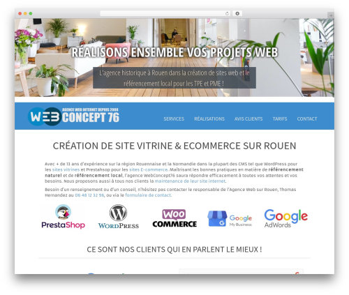 Moesia Pro WordPress theme design - webconcept76.fr