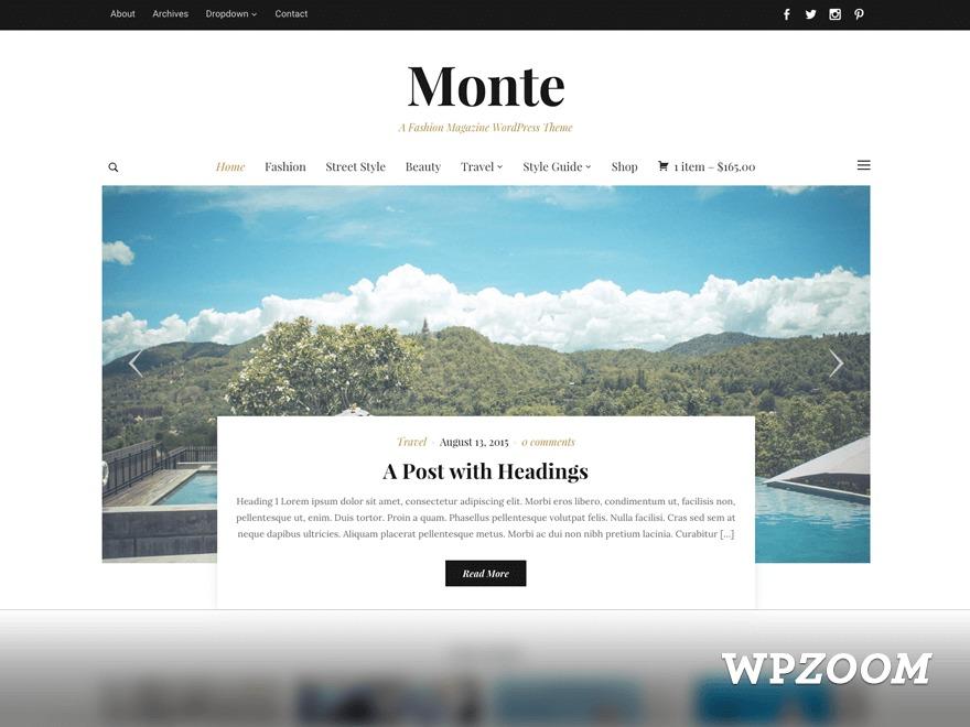 Monte WordPress gallery theme