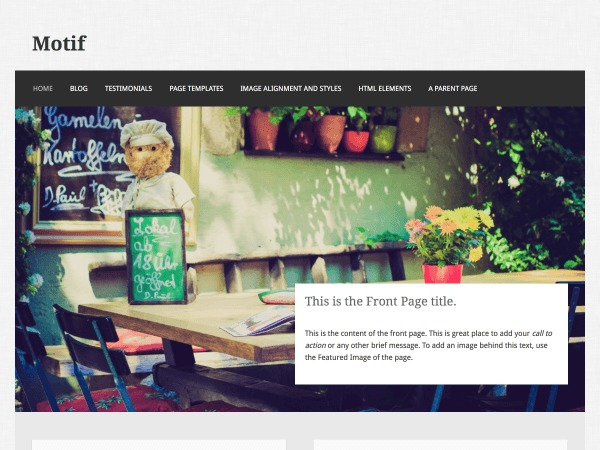 Motif WordPress template for business