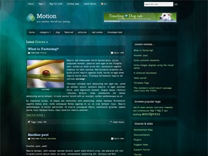 Motion WordPress page template