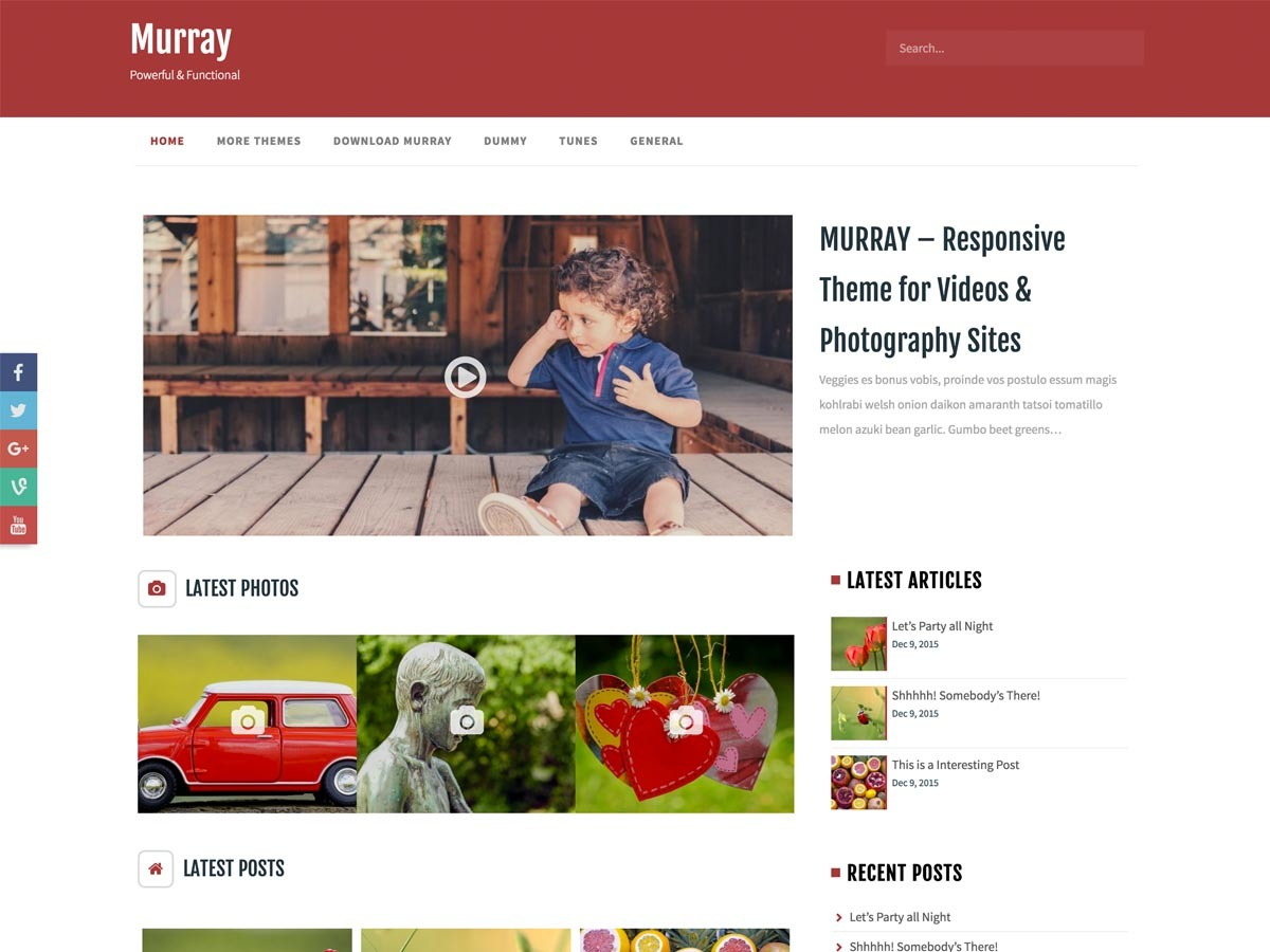 Murray best free WordPress theme