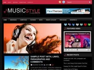 MusicStyle WordPress theme