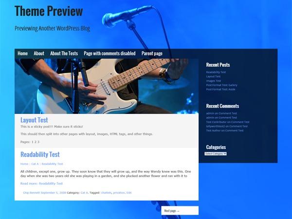 Musik WordPress theme free download