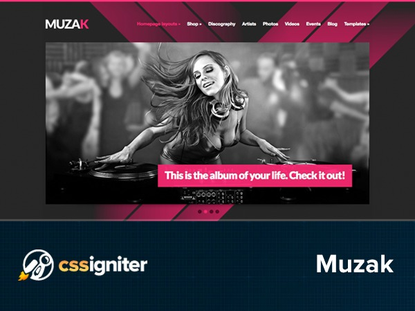 Muzak WordPress store theme