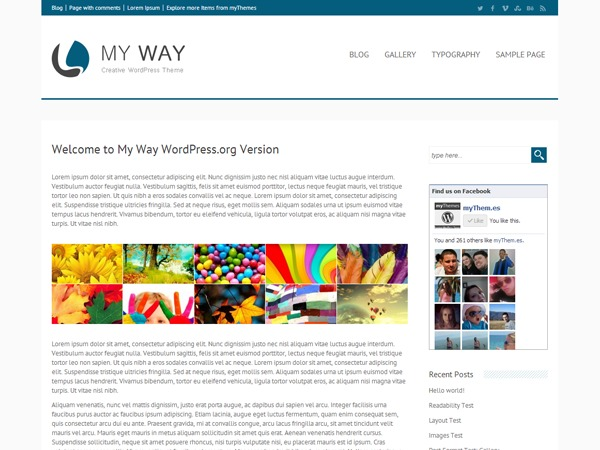 my way WordPress website template