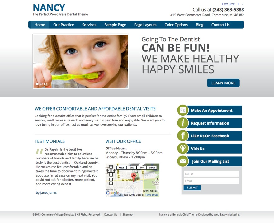 Nancy WordPress blog theme