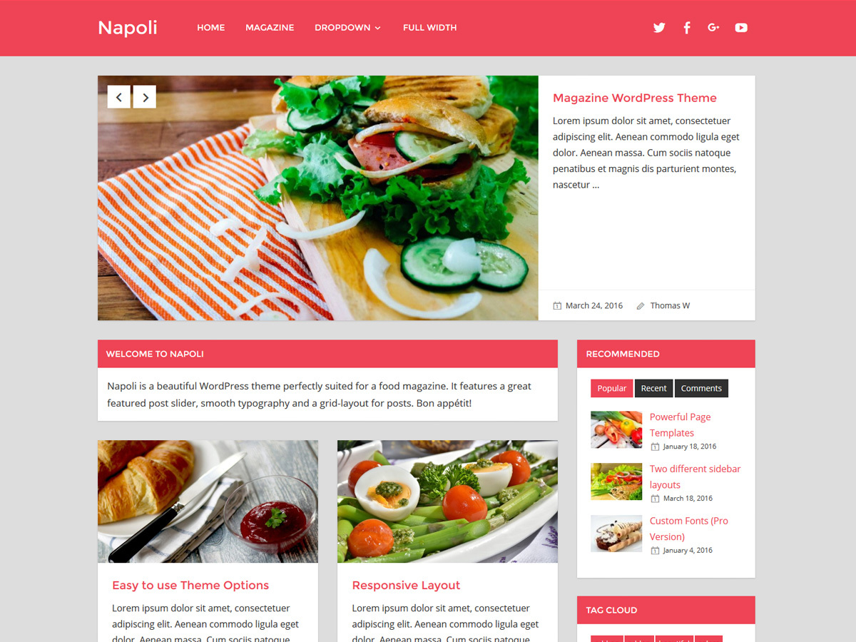 Napoli newspaper WordPress theme