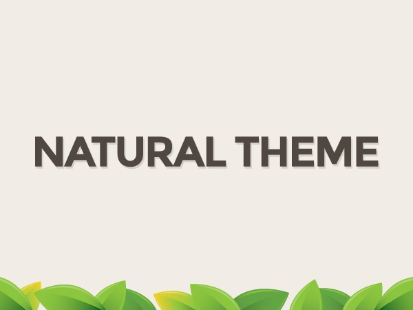 Natural WordPress blog template