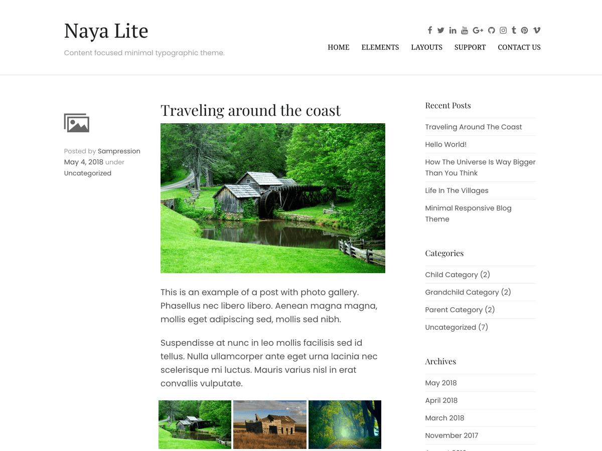 Naya Lite fashion WordPress theme