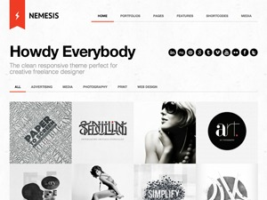 Nemesis personal WordPress theme