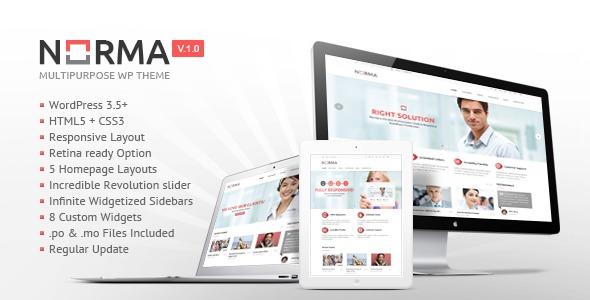 Norma WordPress theme design