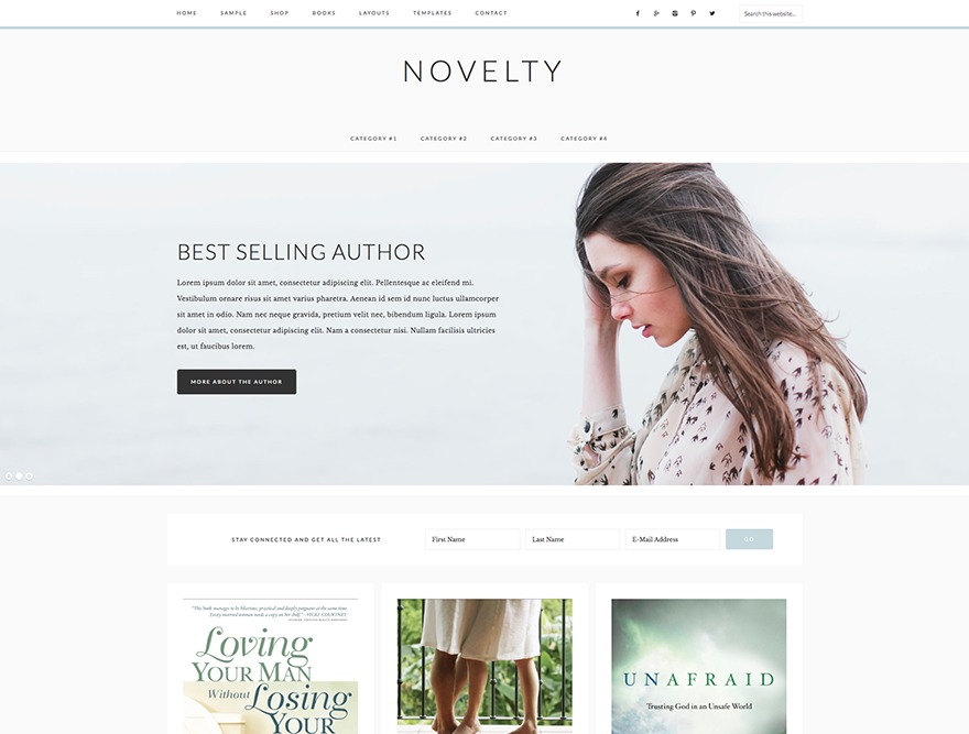 Novelty Theme WordPress ecommerce theme