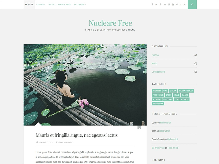Nucleare WordPress theme free download