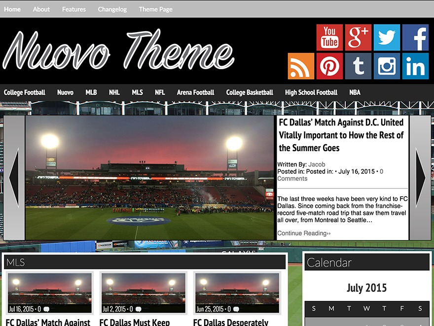 Nuovo WordPress template free