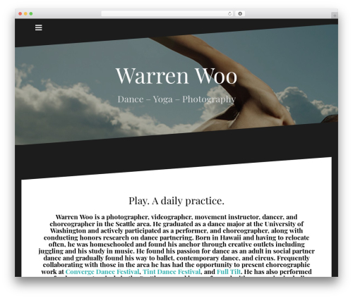 Oblique free WordPress theme - warren-woo.com