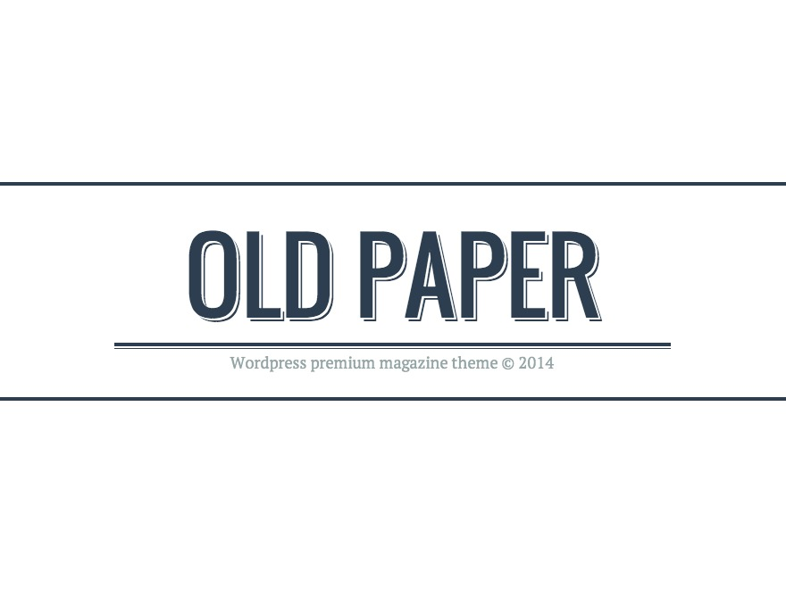 Old Paper WordPress magazine theme