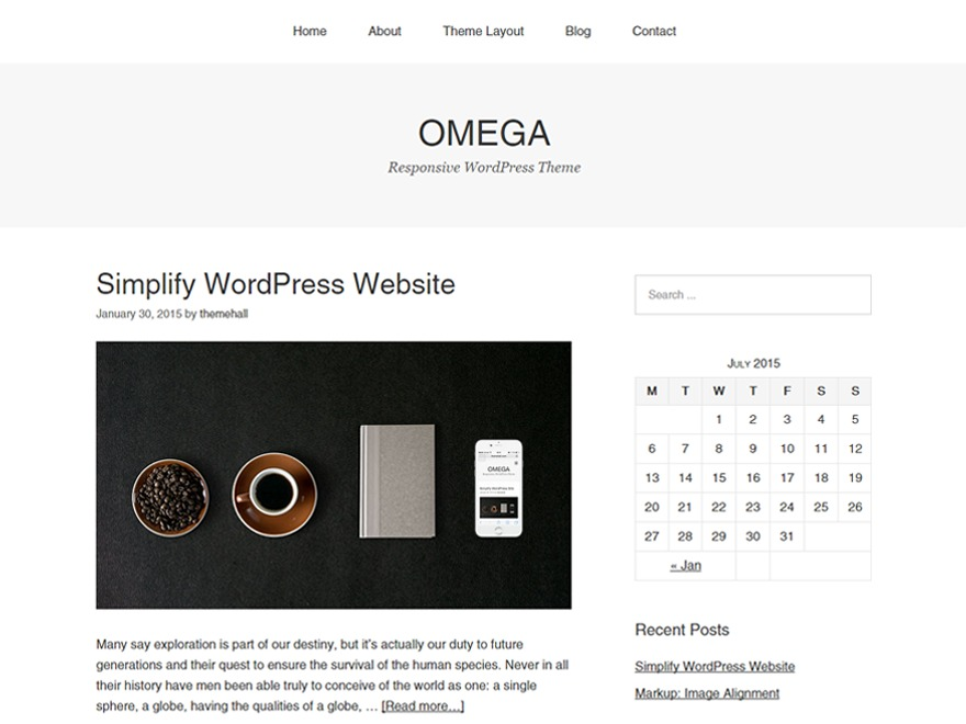 Omega WordPress theme free download