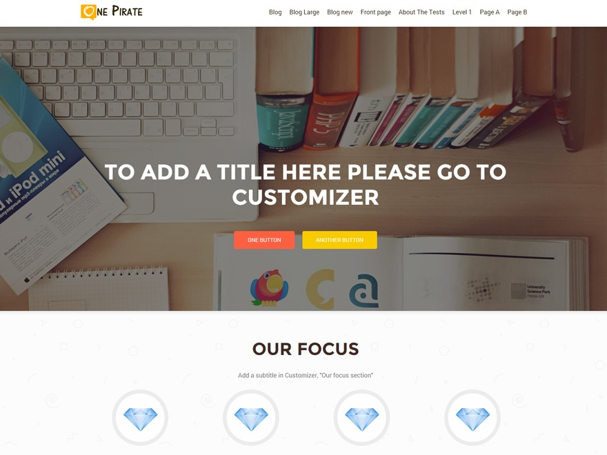 OnePirate free WordPress theme