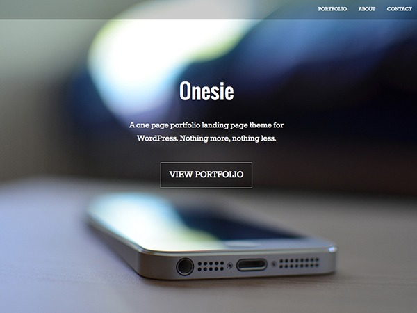 Onesie best portfolio WordPress theme
