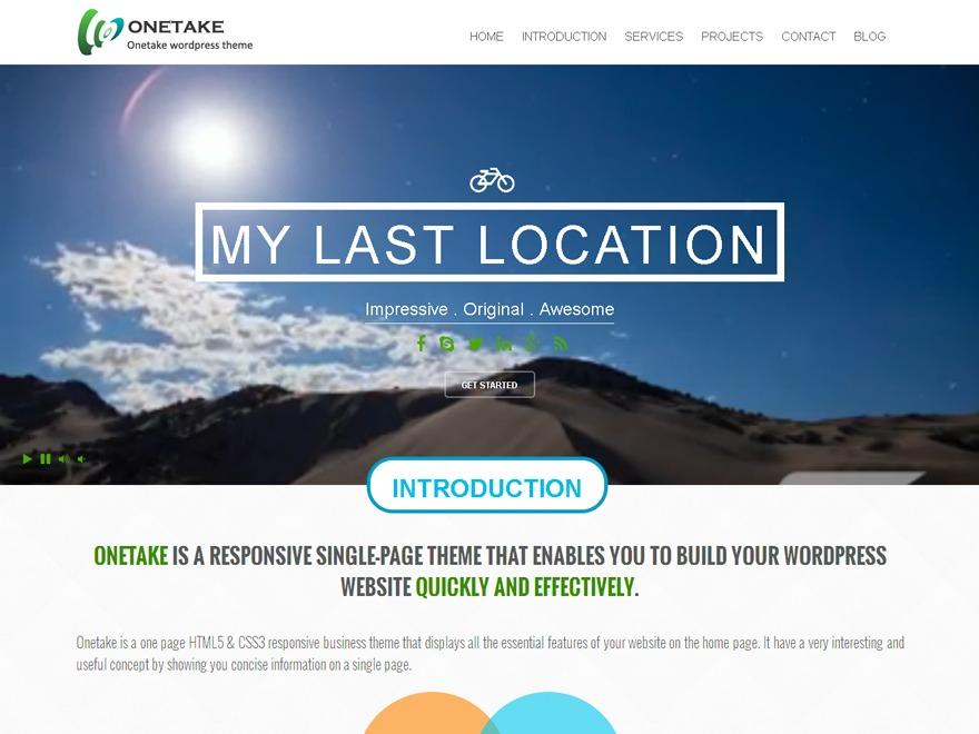 Onetake template WordPress free
