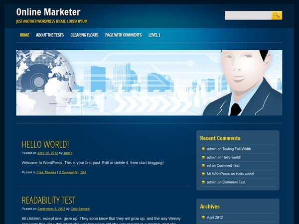 Online Marketer business WordPress theme