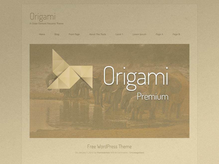 Origami Premium WordPress blog theme