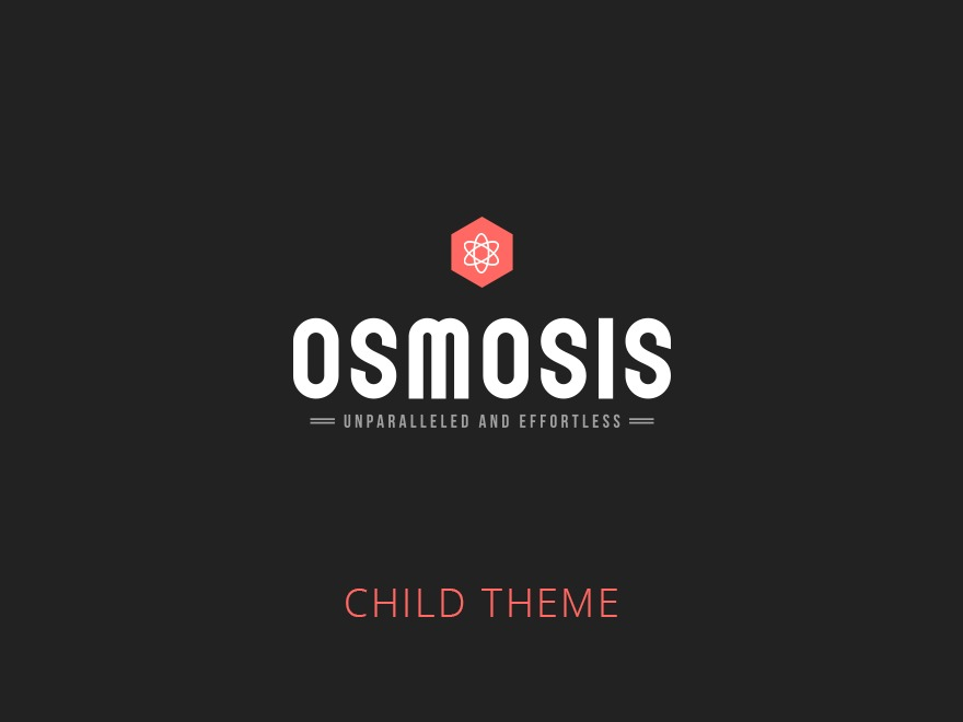 Osmosis Child WordPress theme design