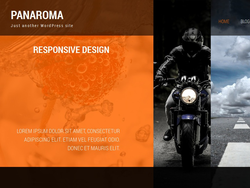 Panaroma WordPress template for photographers