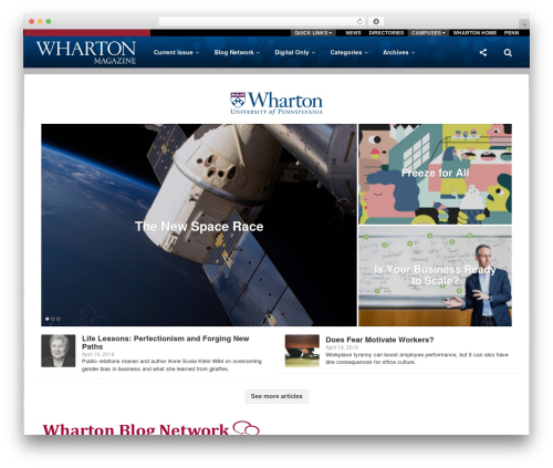 Particle by Bluthemes newspaper WordPress theme - whartonmagazine.com