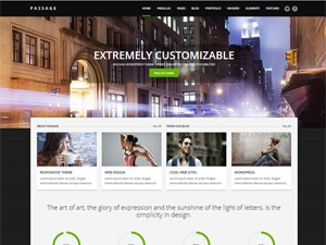 Passage template WordPress