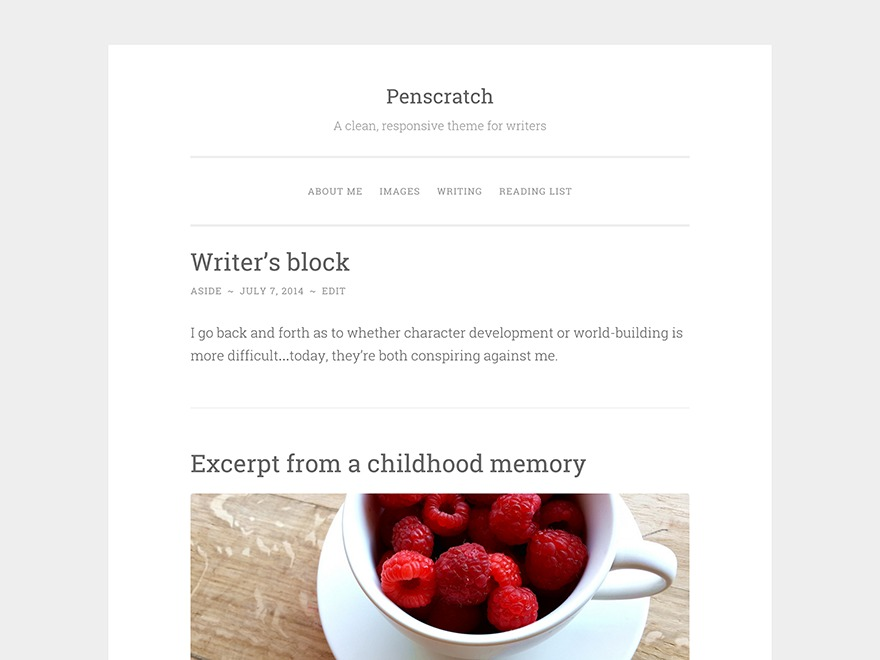 Penscratch WordPress photo theme