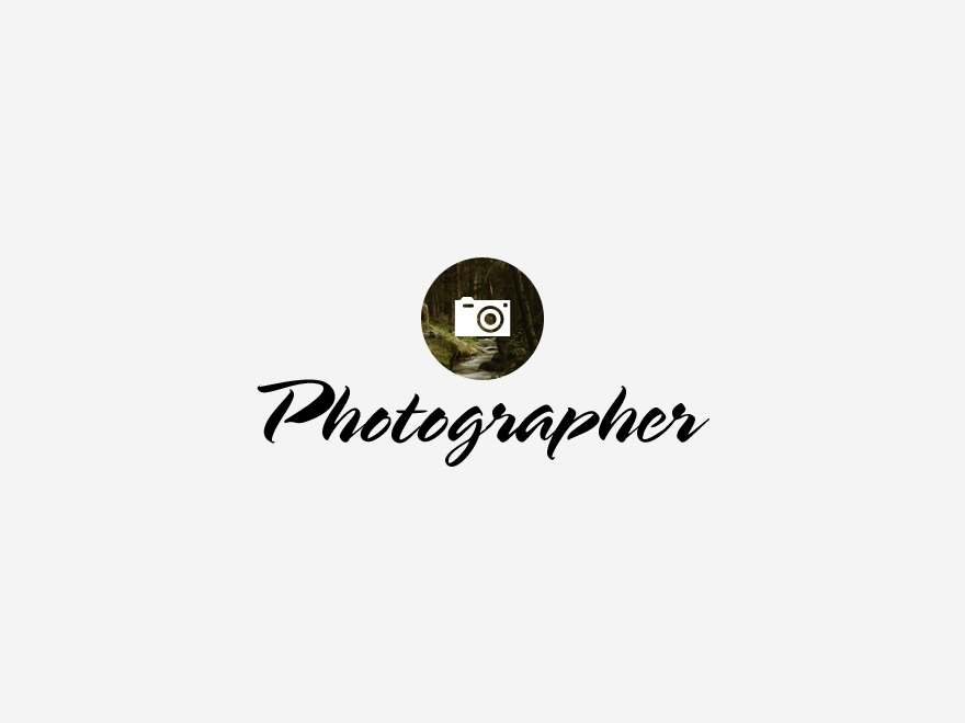 Photographer template WordPress